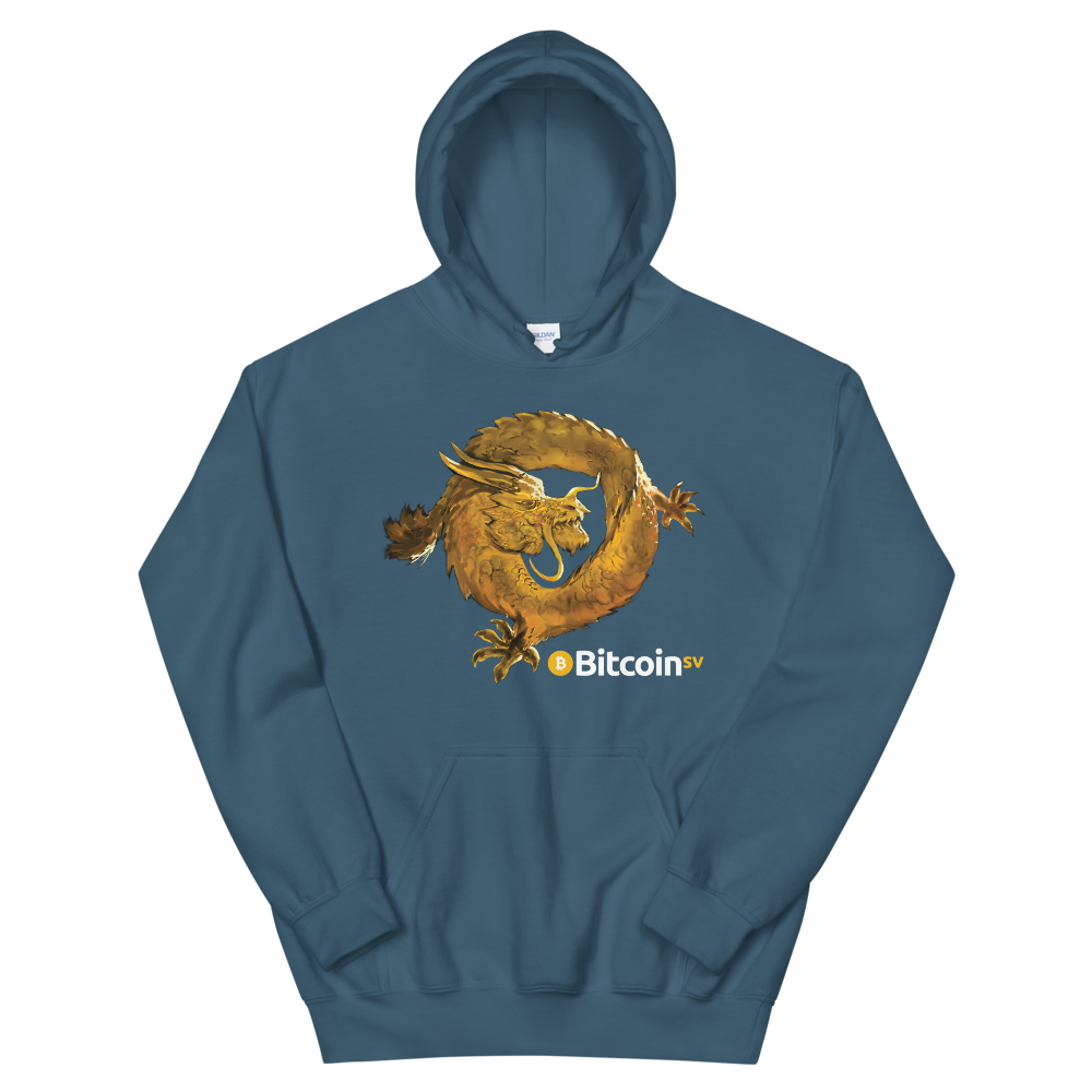 Bitcoin SV Woken Dragon Women's Hooded Sweatshirt Indigo Blue S - zeroconfs