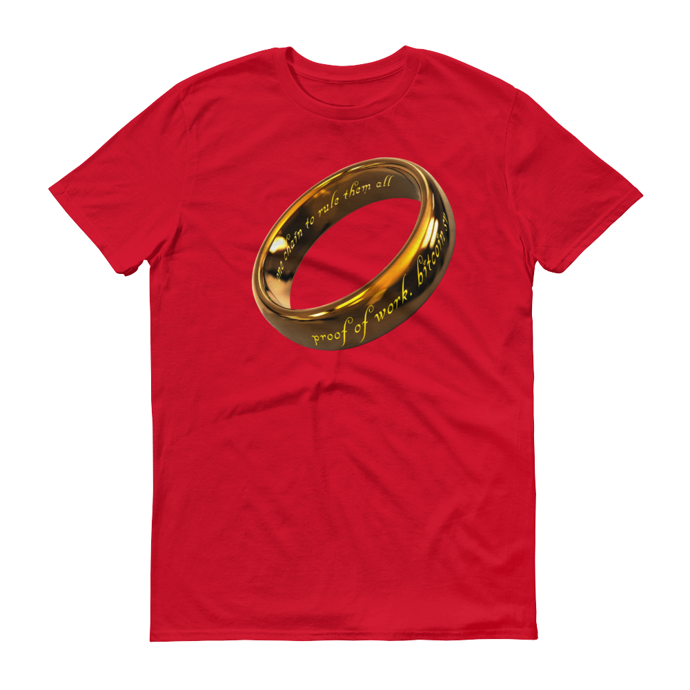 One Chain To Rule Them All Bitcoin SV Short-Sleeve T-Shirt Red S - zeroconfs