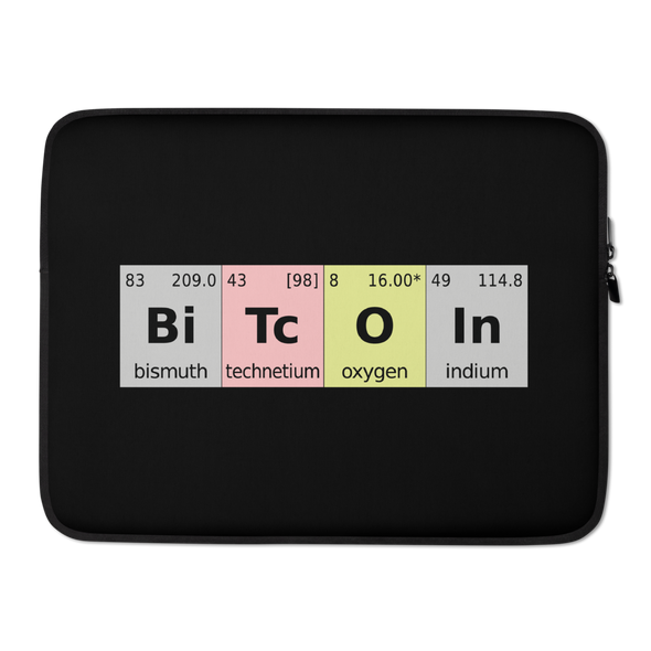 Bitcoin Periodic Table Laptop Sleeve 15 in  - zeroconfs