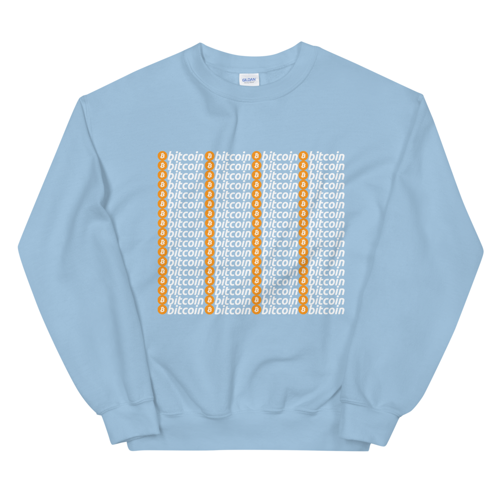Bitcoins Women's Sweatshirt Light Blue S - zeroconfs