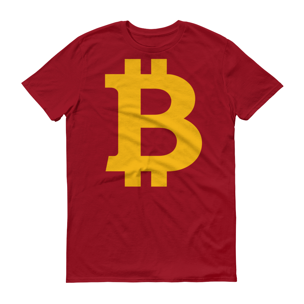 Bitcoin B Short-Sleeve T-Shirt Independence Red S - zeroconfs