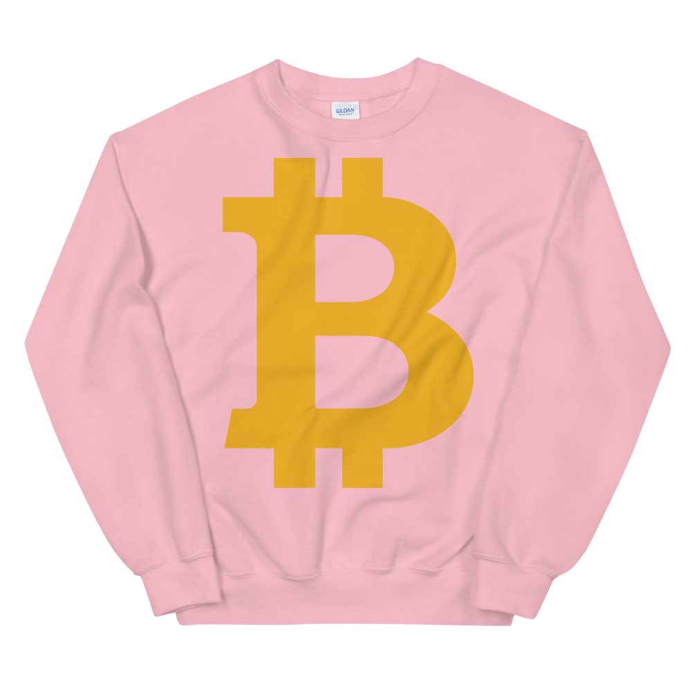 Bitcoin B Sweatshirt Light Pink S - zeroconfs