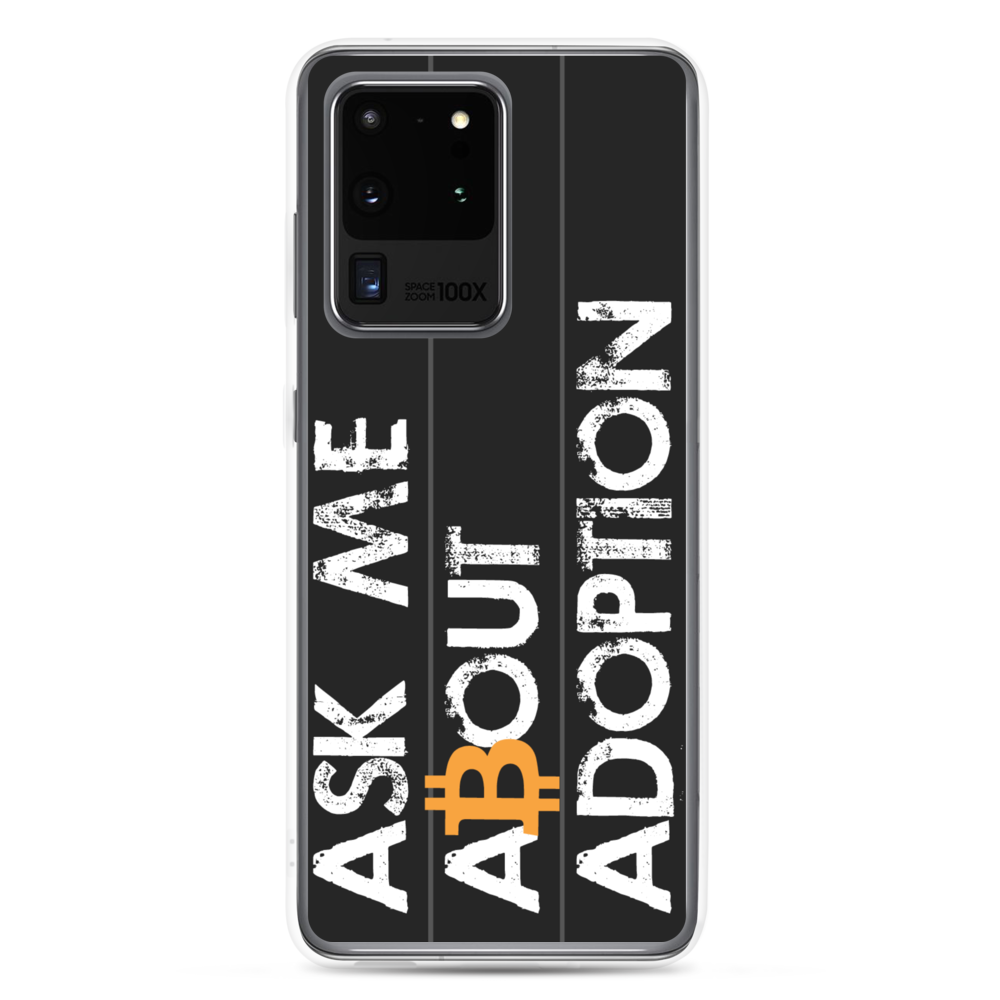 Ask Me About Adoption Bitcoin Samsung Case Samsung Galaxy S20 Ultra  - zeroconfs