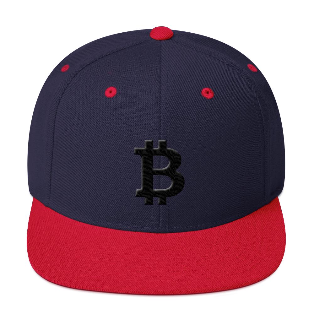 Bitcoin Blacknet SE Snapback Hat Navy/ Red  - zeroconfs