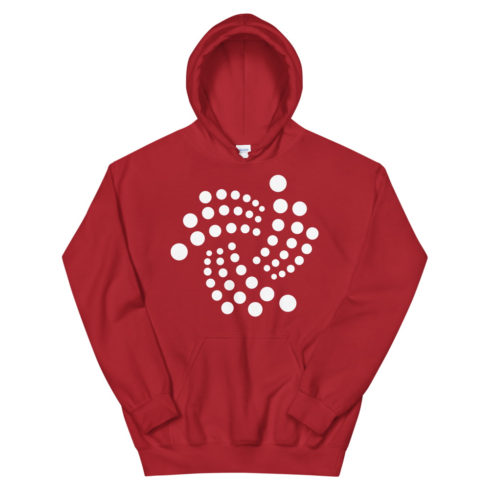 IOTA Women's Hooded Sweatshirt Red S - zeroconfs