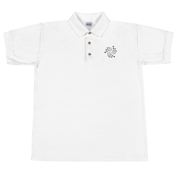 IOTA Embroidered Polo Shirt White S - zeroconfs