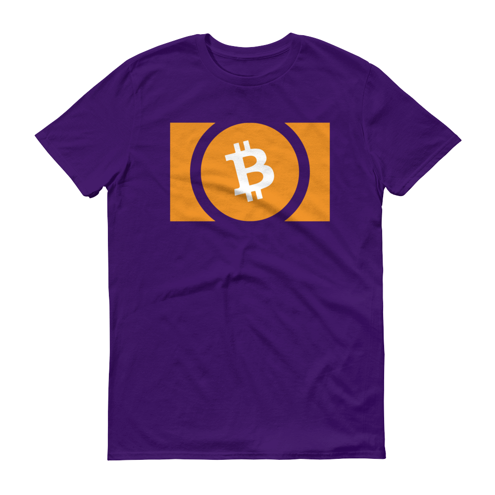 Bitcoin Cash Short-Sleeve T-Shirt Purple S - zeroconfs