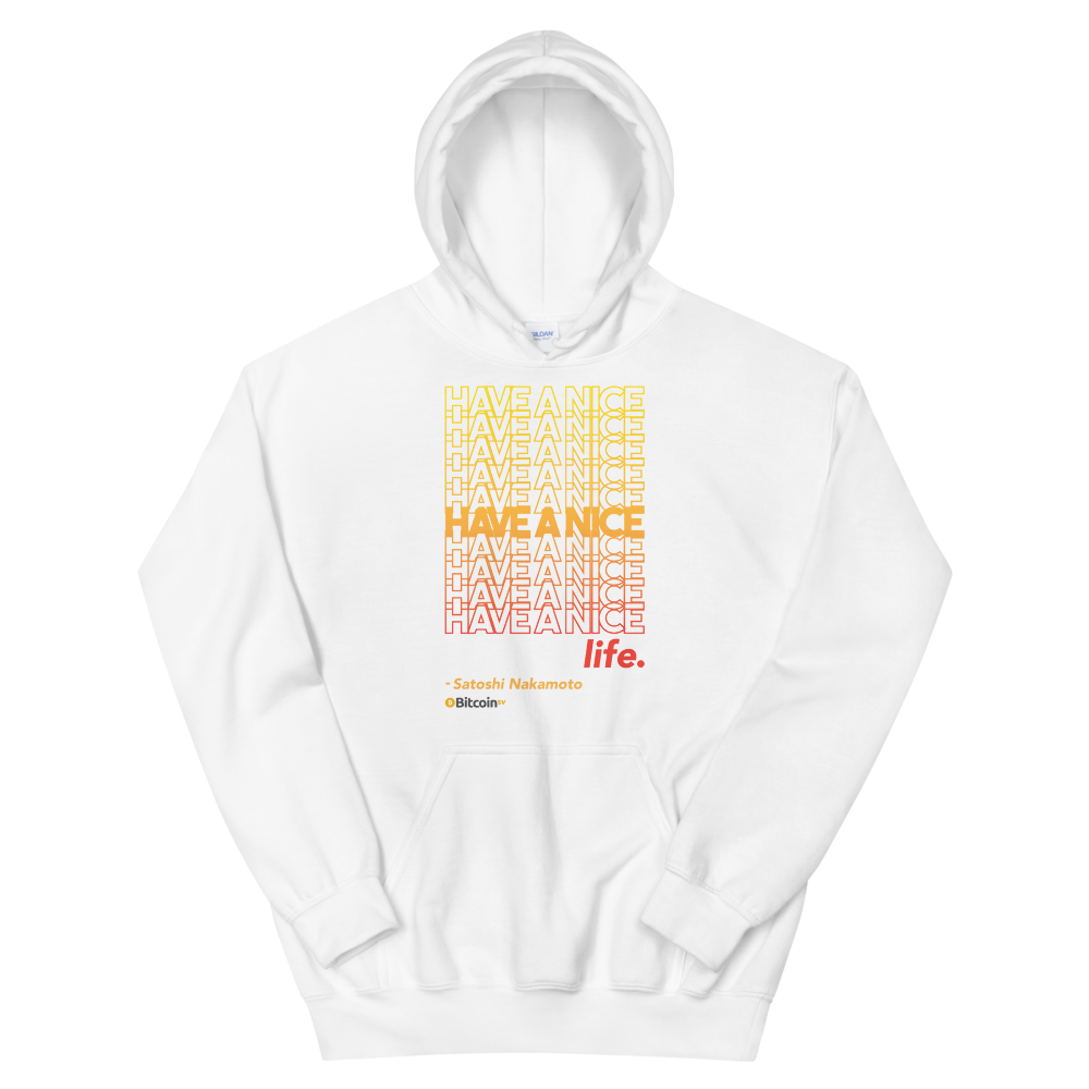Have A Nice Life Bitcoin SV Hooded Sweatshirt White S - zeroconfs