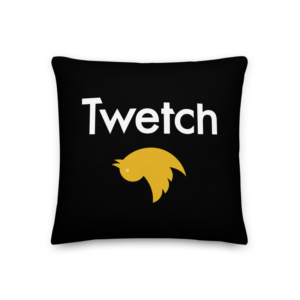 Twetch Premium Pillow 18×18  - zeroconfs