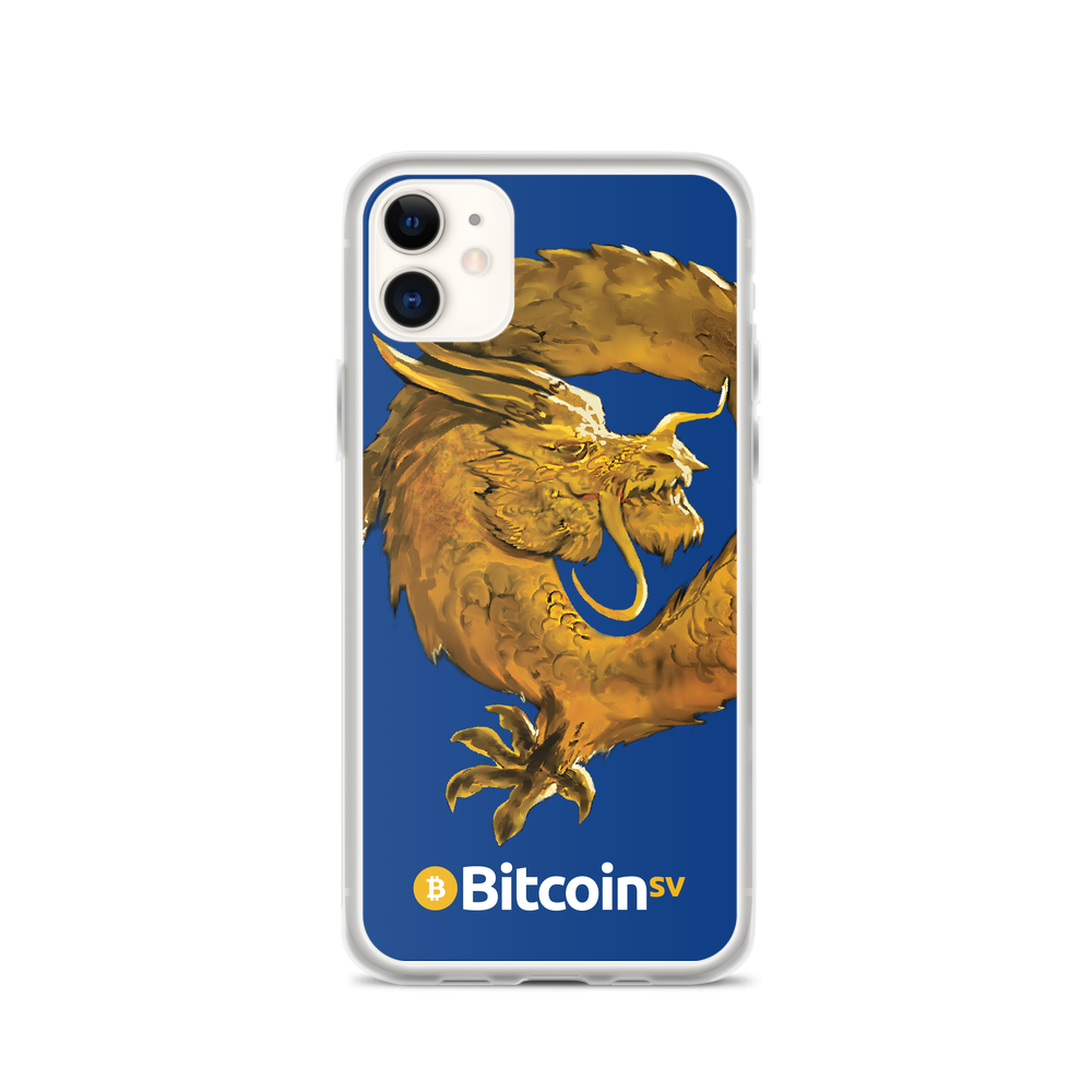 Bitcoin SV Woken Dragon iPhone Case Navy iPhone 11  - zeroconfs