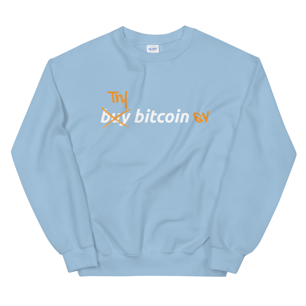 Try Bitcoin SV Sweatshirt Light Blue S - zeroconfs