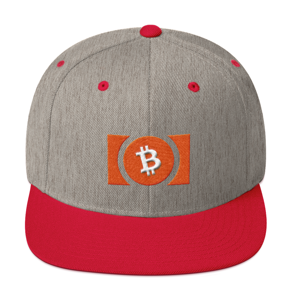 Bitcoin Cash Snapback Hat Heather Grey/ Red  - zeroconfs