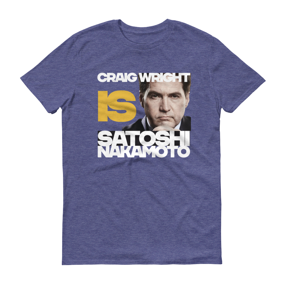 Craig Is Satoshi Short-Sleeve T-Shirt Heather Blue S - zeroconfs