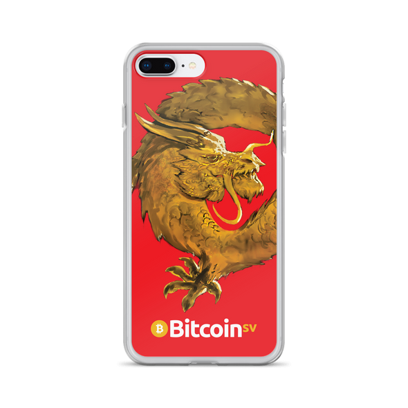 Bitcoin SV Woken Dragon iPhone Case Red iPhone 7 Plus/8 Plus  - zeroconfs