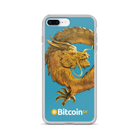 Bitcoin SV Woken Dragon iPhone Case Blue iPhone 7 Plus/8 Plus  - zeroconfs