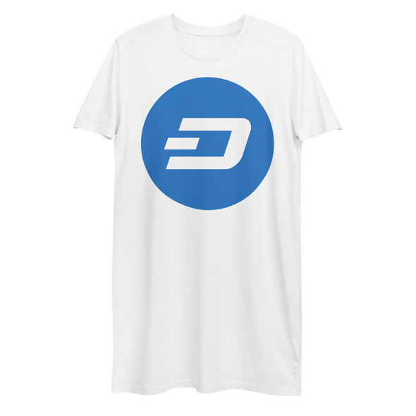 Dash Premium T-Shirt Dress White XS - zeroconfs