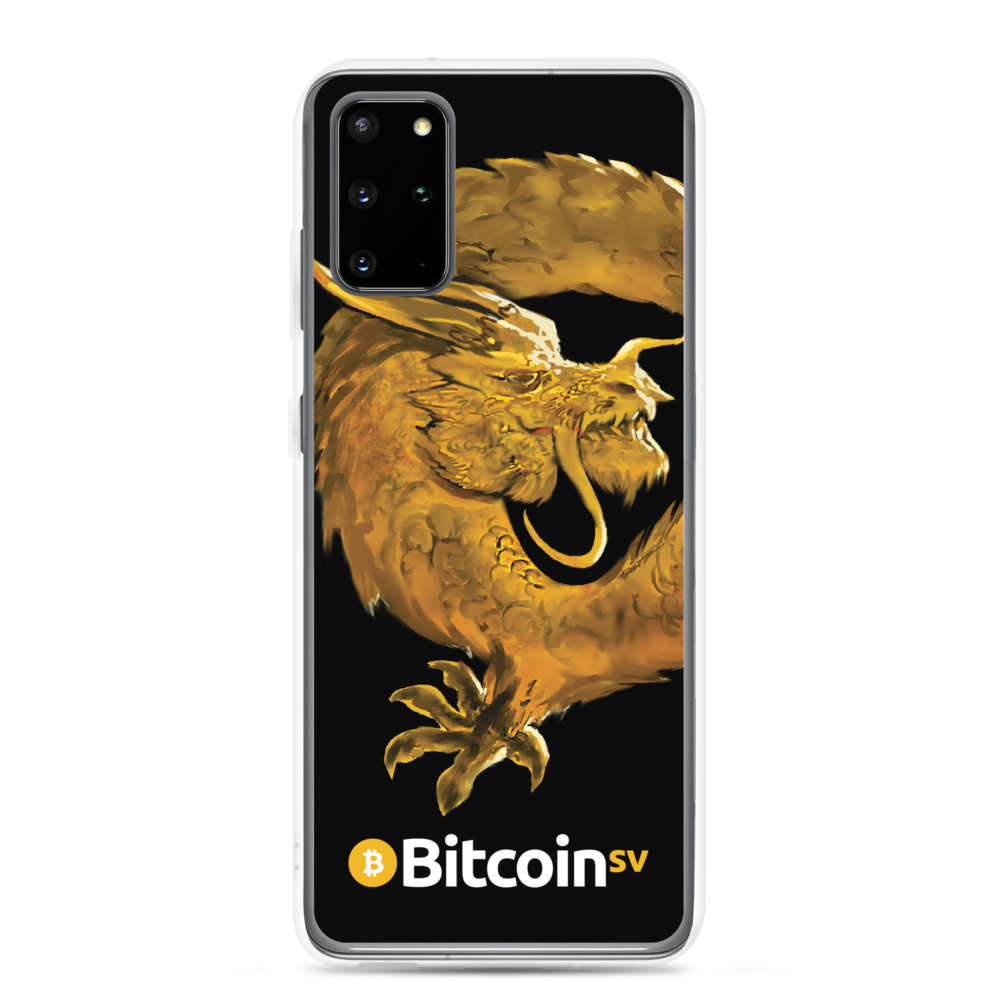 Bitcoin SV Woken Dragon Samsung Case Black Samsung Galaxy S20 Plus  - zeroconfs