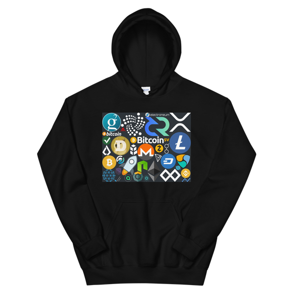 Crypto Calling Hooded Sweatshirt Black S - zeroconfs