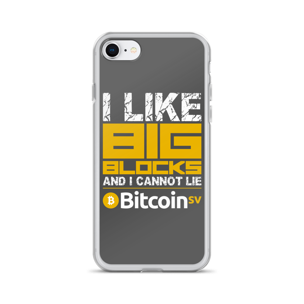 I Like Big Blocks Bitcoin SV iPhone Case iPhone 7/8  - zeroconfs