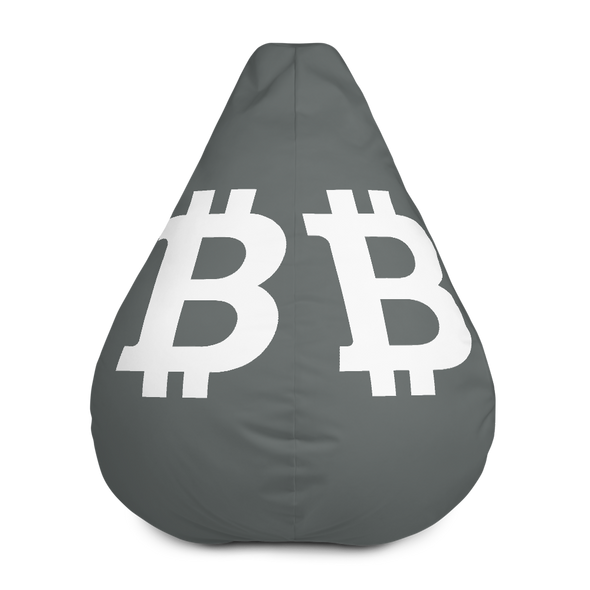 Bitcoin SV Gray Bean Bag Cover Only Default Title  - zeroconfs