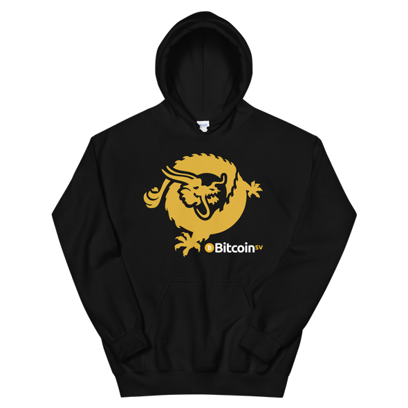 Bitcoin SV Dragon Hooded Sweatshirt Black S - zeroconfs