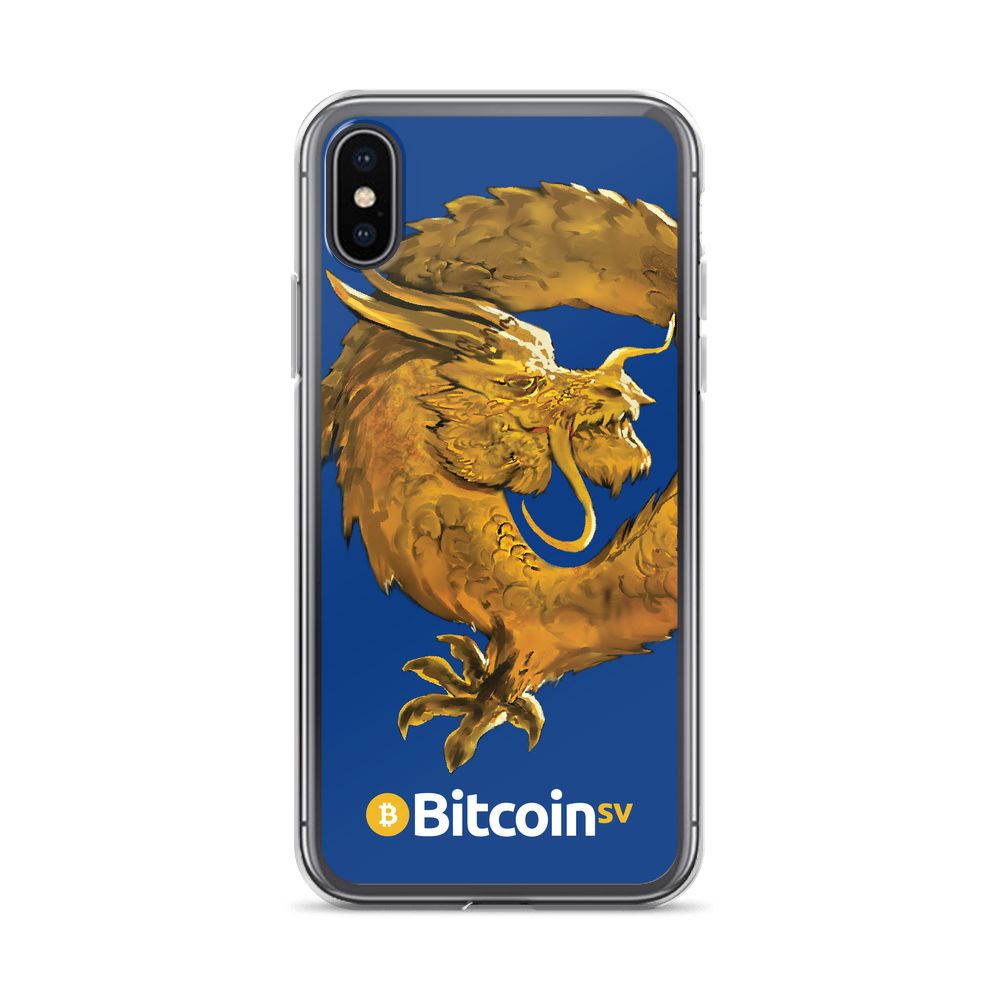 Bitcoin SV Woken Dragon iPhone Case Navy iPhone X/XS  - zeroconfs