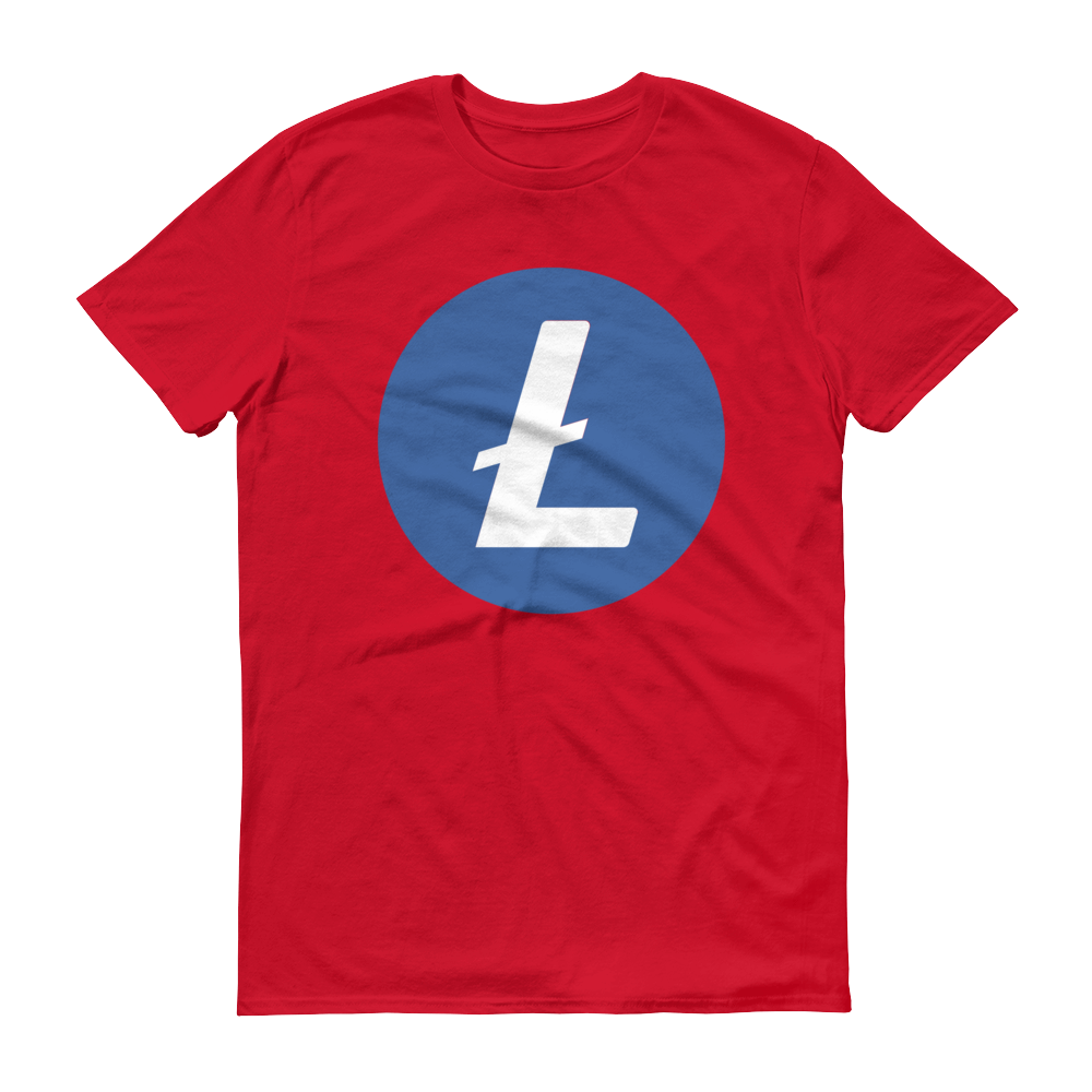 Litecoin Short-Sleeve T-Shirt Red S - zeroconfs