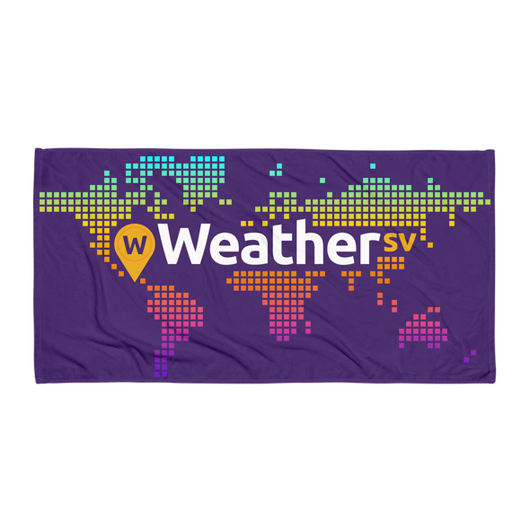 Weather SV Beach Towel Purple Default Title  - zeroconfs