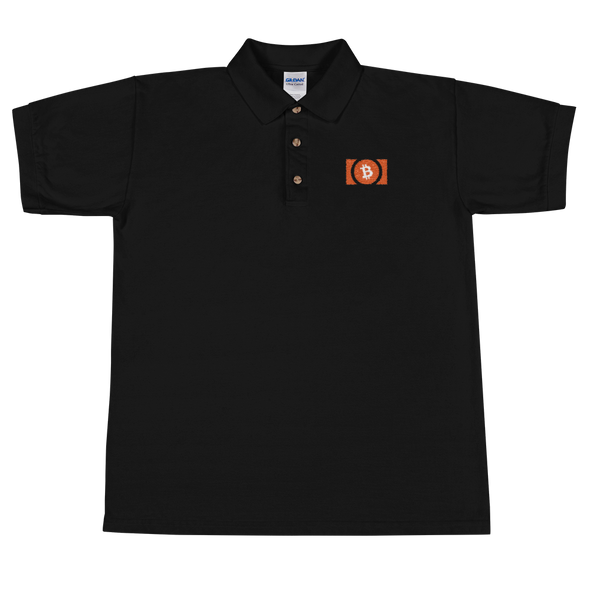 Bitcoin Cash Embroidered Polo Shirt Black S - zeroconfs