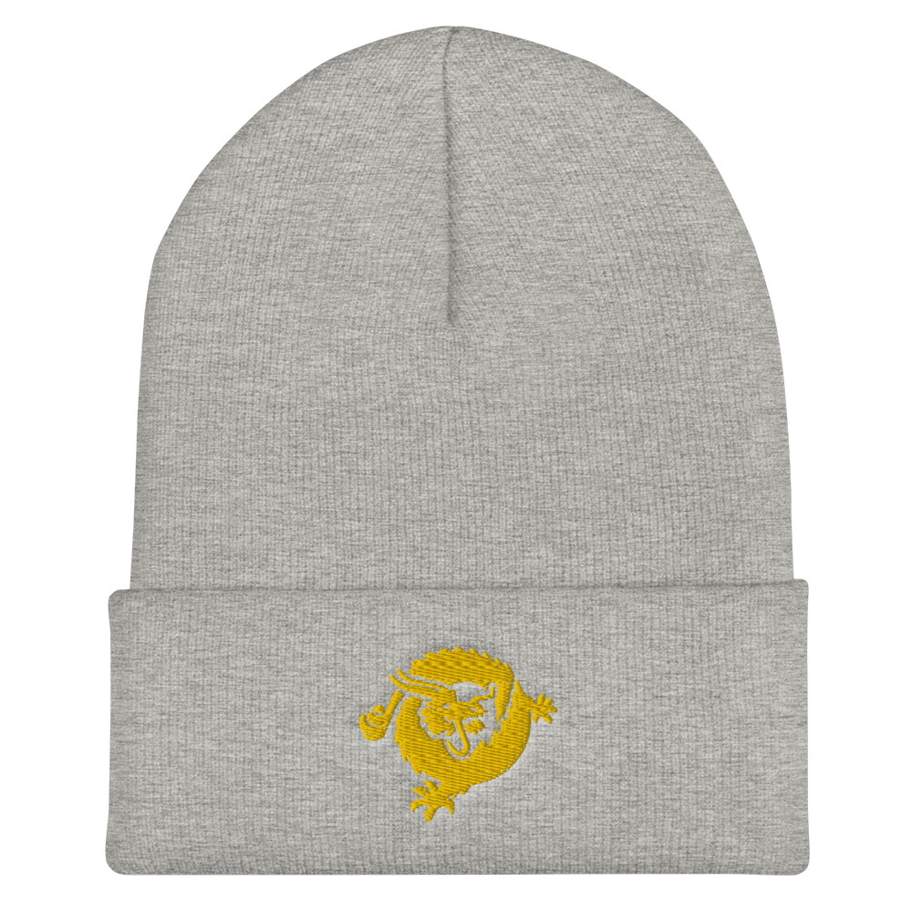 Bitcoin SV Dragon Cuffed Beanie Gold Heather Grey  - zeroconfs