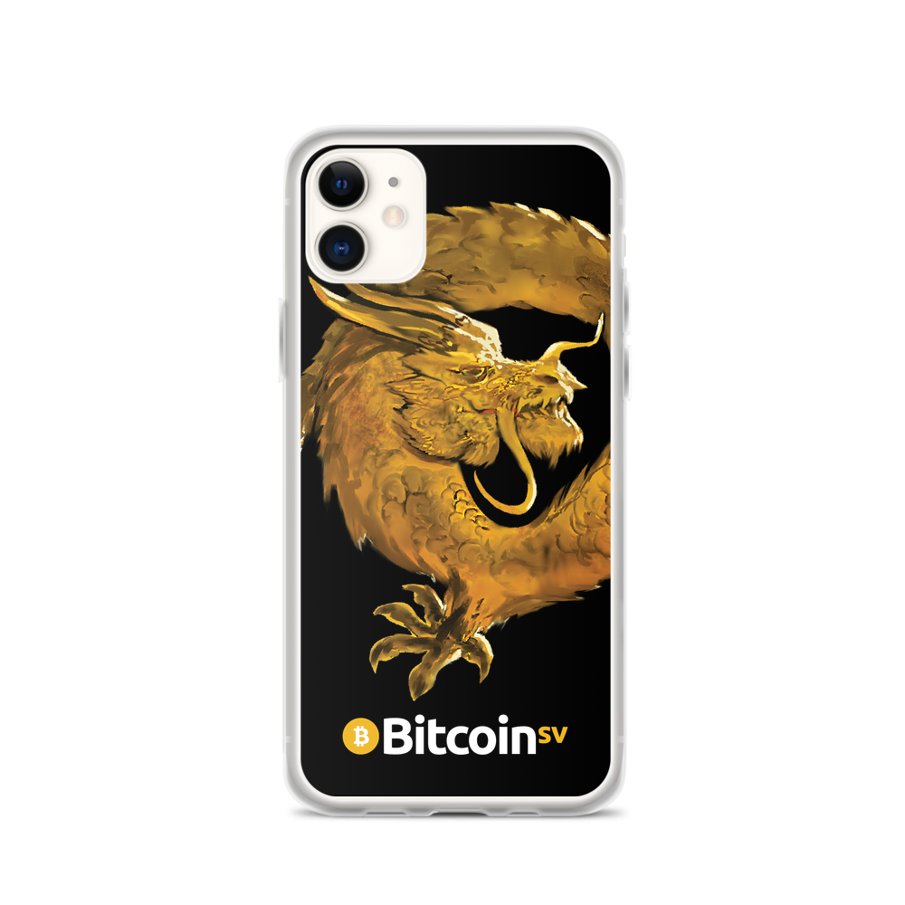 Bitcoin SV Woken Dragon iPhone Case Black iPhone 11  - zeroconfs
