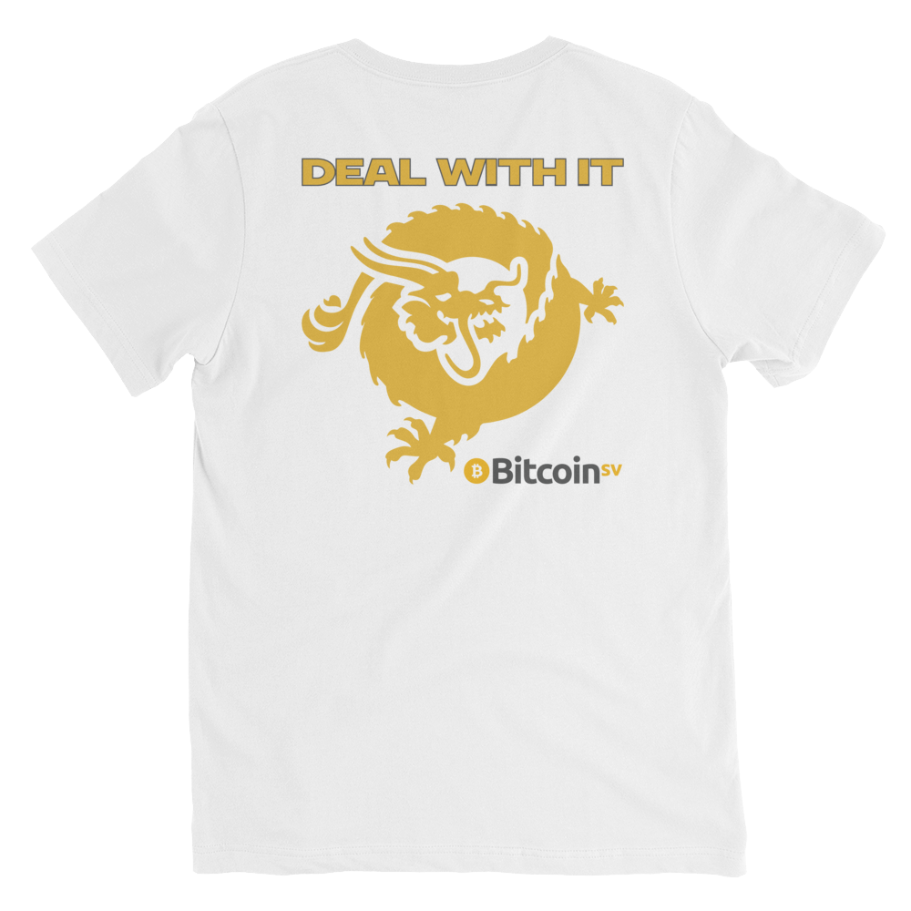 Craig Is Satoshi Deal With It V-Neck T-Shirt   - zeroconfs