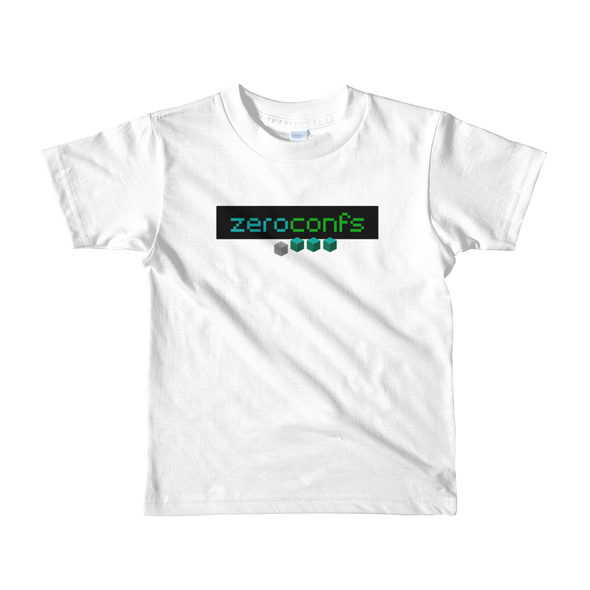 Zeroconfs.com Short Sleeve Kids T-Shirt White 2yrs - zeroconfs