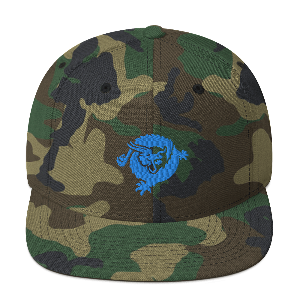 Bitcoin SV Dragon Snapback Hat Blue Green Camo  - zeroconfs