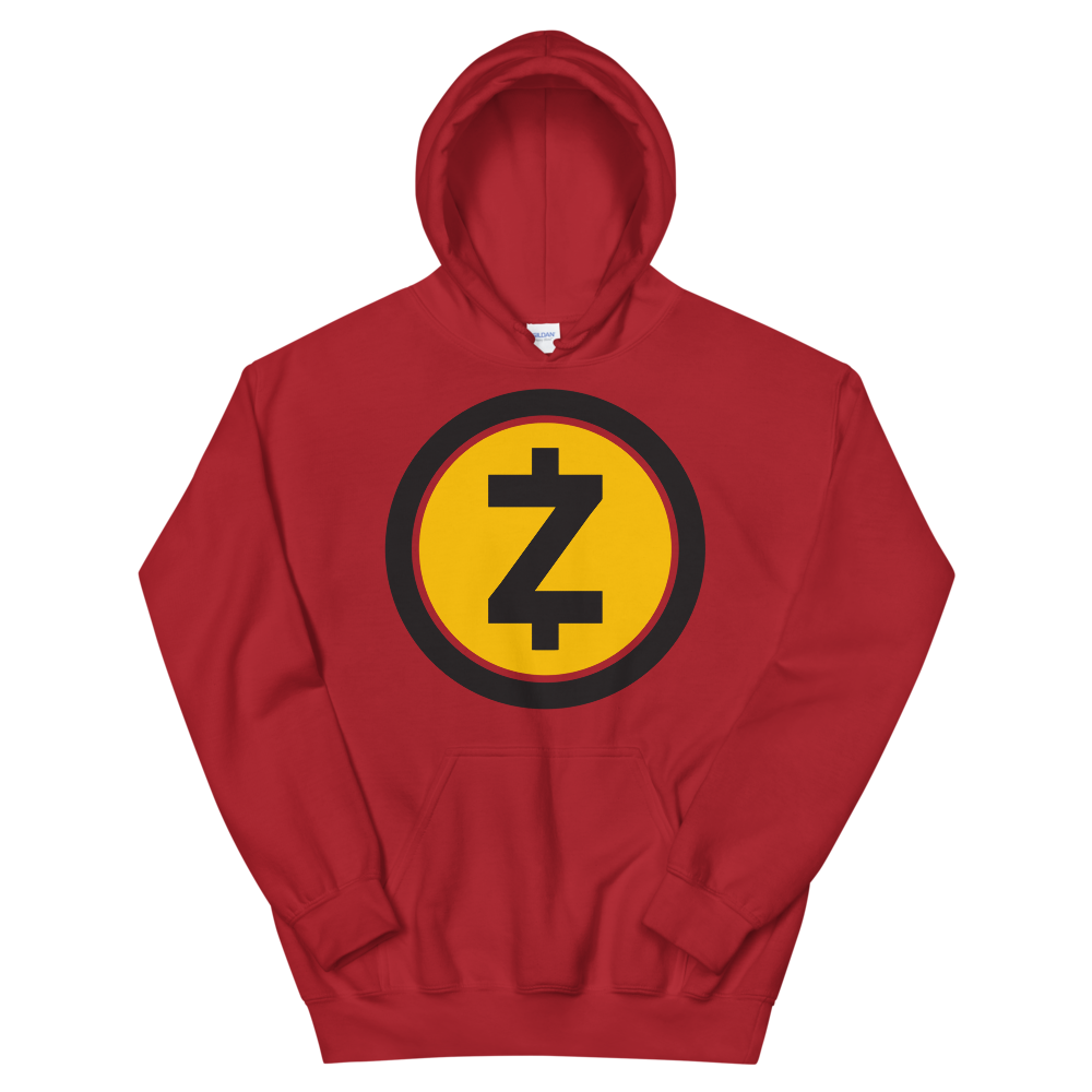 Zcash Hooded Sweatshirt Red S - zeroconfs