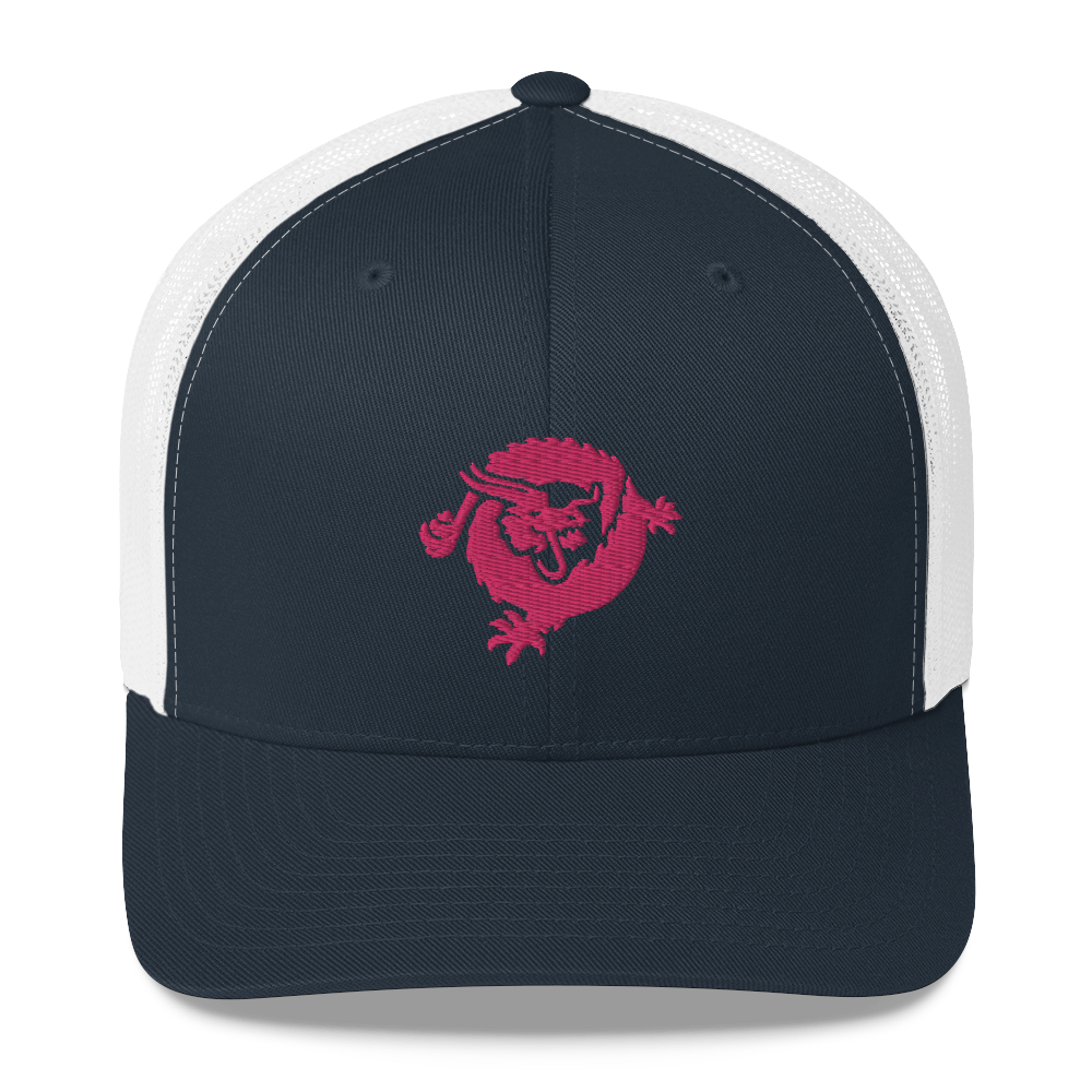 Bitcoin SV Dragon Trucker Cap Pink Navy/ White  - zeroconfs