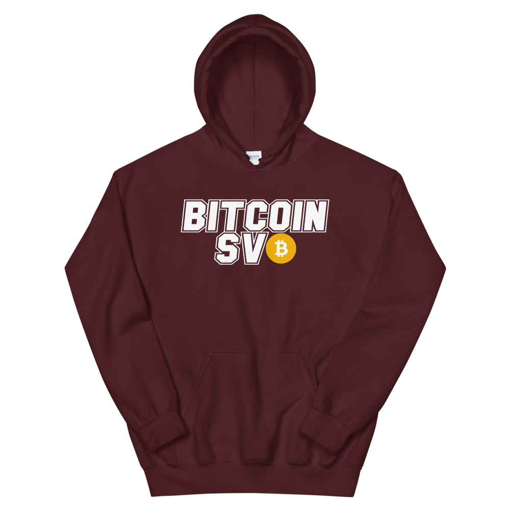 Bitcoin SV Sports Women's Hooded Sweatshirt Maroon S - zeroconfs