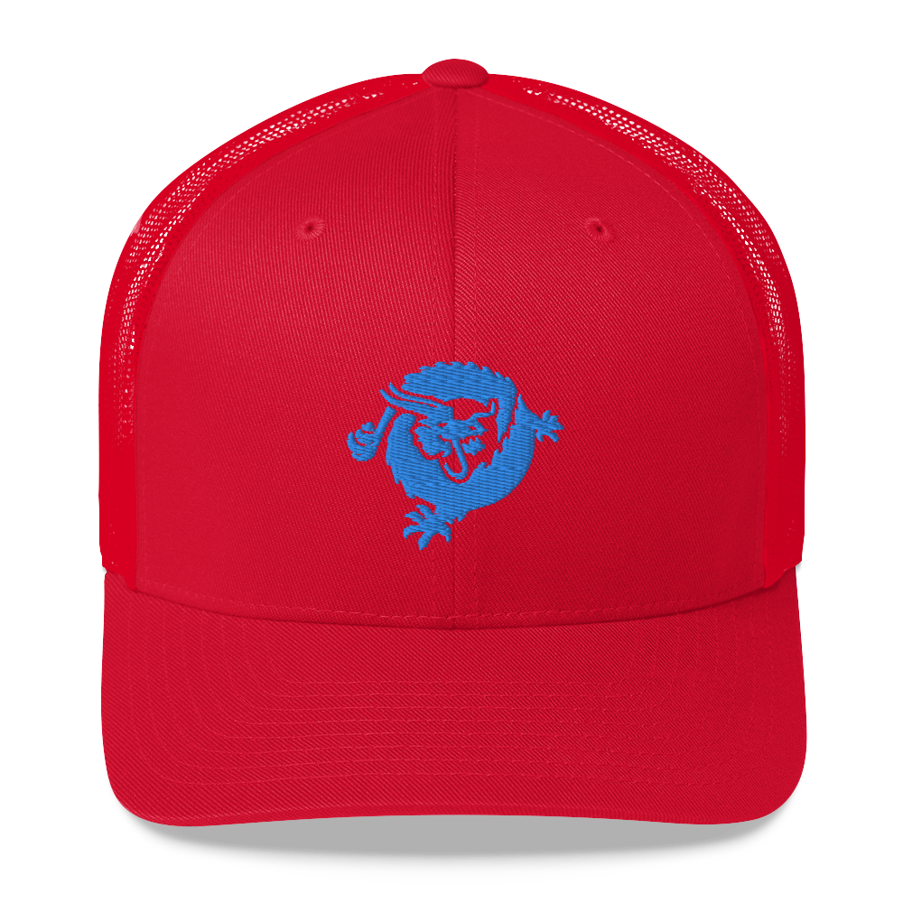 Bitcoin SV Dragon Trucker Cap Blue Red  - zeroconfs