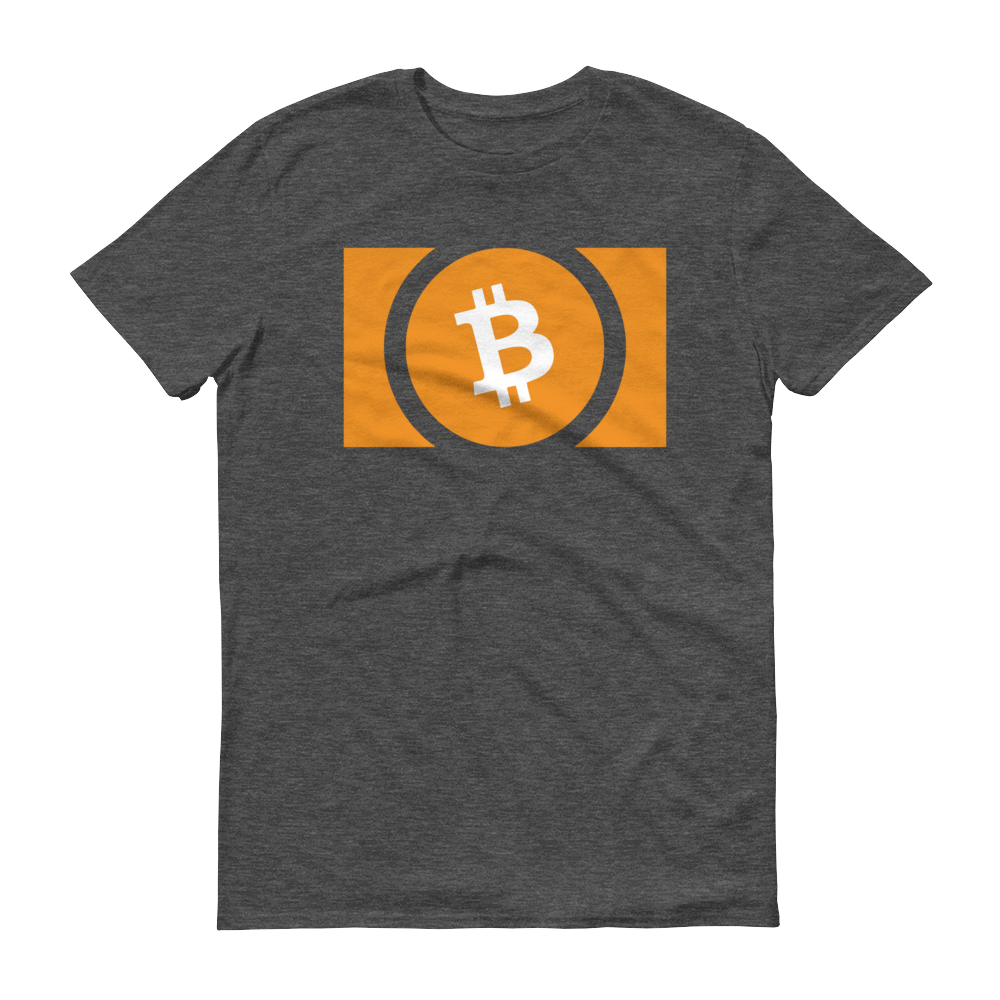 Bitcoin Cash Short-Sleeve T-Shirt Heather Dark Grey S - zeroconfs