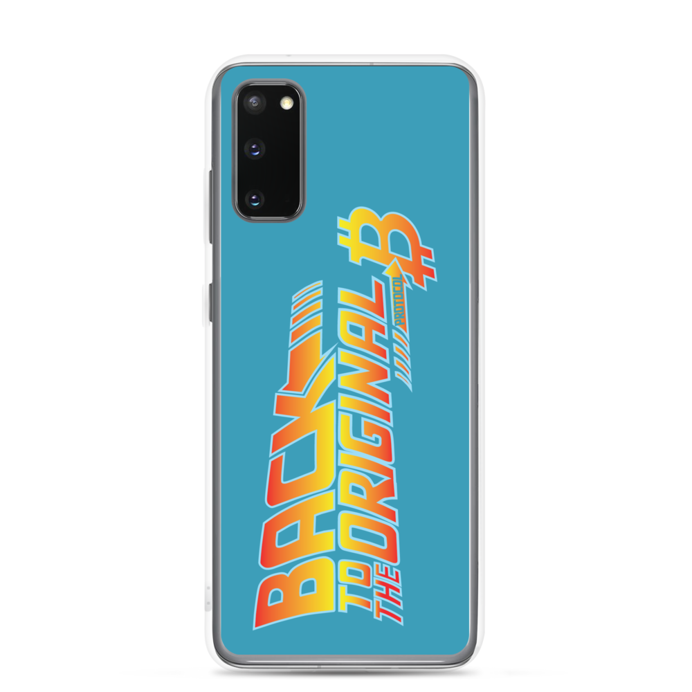 Back To The Original Bitcoin Protocol Samsung Case Blue Samsung Galaxy S20  - zeroconfs