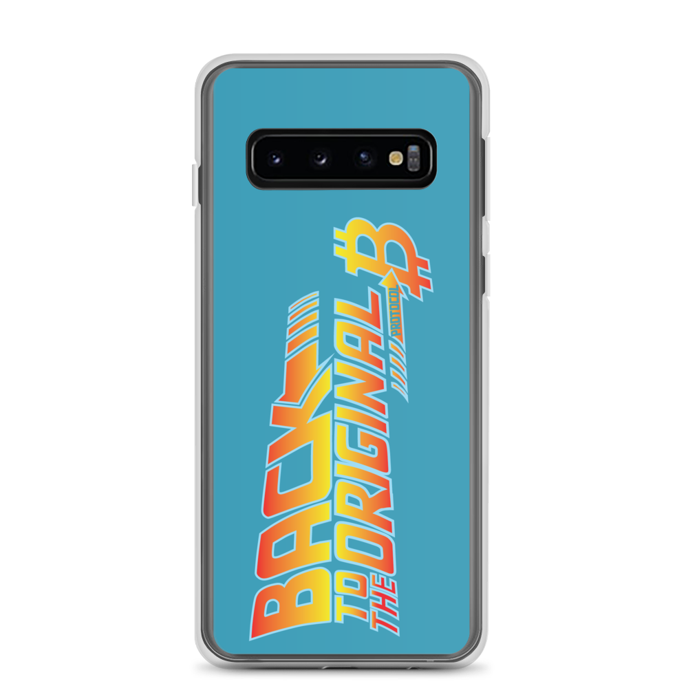 Back To The Original Bitcoin Protocol Samsung Case Blue Samsung Galaxy S10  - zeroconfs