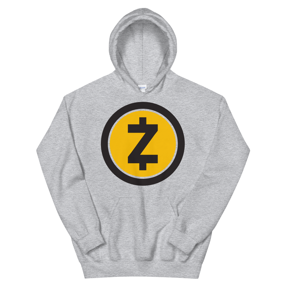 Zcash Hooded Sweatshirt Sport Grey S - zeroconfs