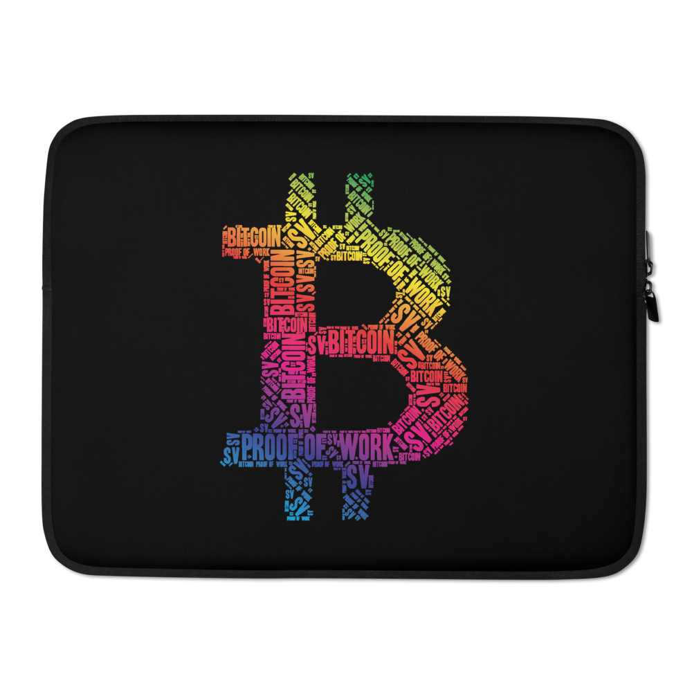 Bitcoin SV Proof Of Work Laptop Sleeve 15 in  - zeroconfs