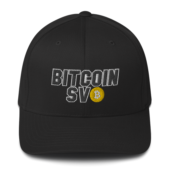 Bitcoin SV Sports Flexfit Cap Black S/M - zeroconfs