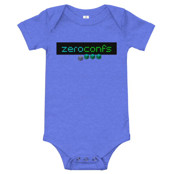 Zeroconfs.com Baby Bodysuit Heather Columbia Blue 3-6m - zeroconfs