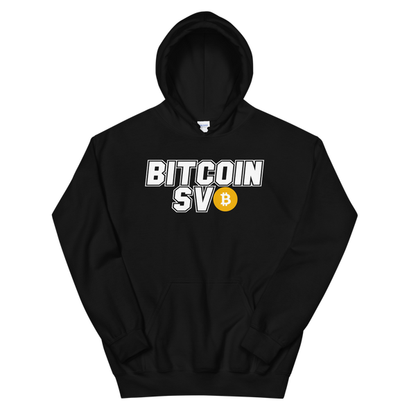 Bitcoin SV Sports Hooded Sweatshirt Black S - zeroconfs