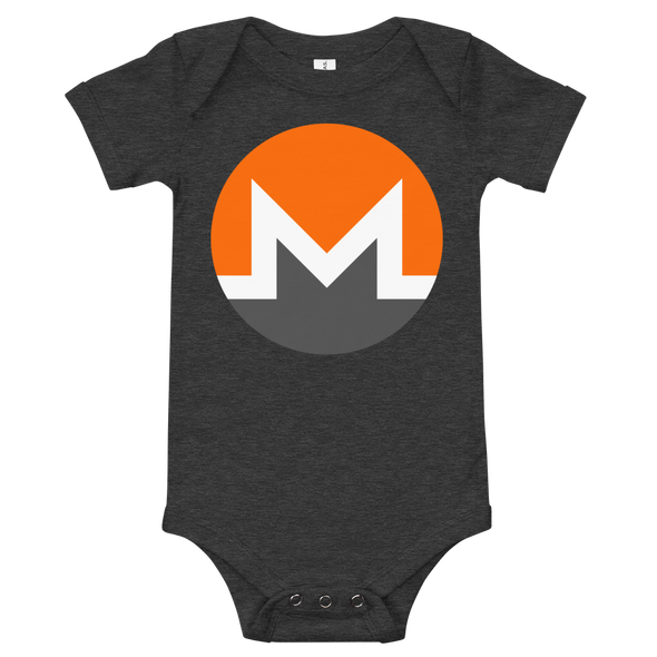 Monero Baby Bodysuit Dark Grey Heather 3-6m - zeroconfs
