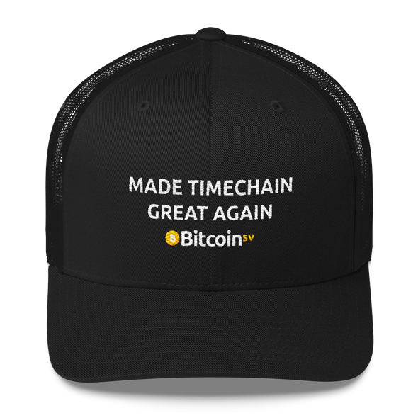 Made Timechain Great Again Bitcoin SV Trucker Cap Black  - zeroconfs
