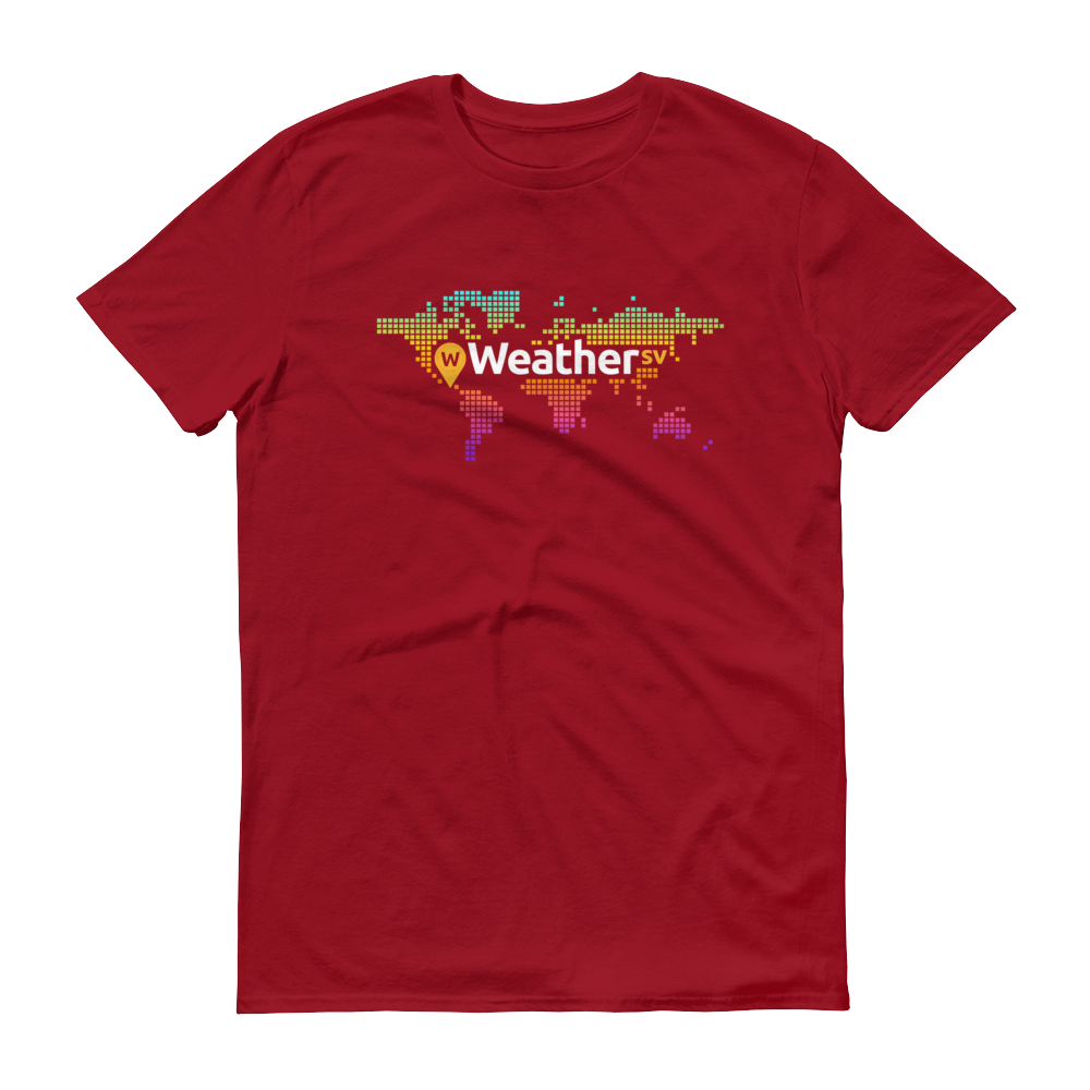 Weather SV Short-Sleeve T-Shirt Independence Red S - zeroconfs
