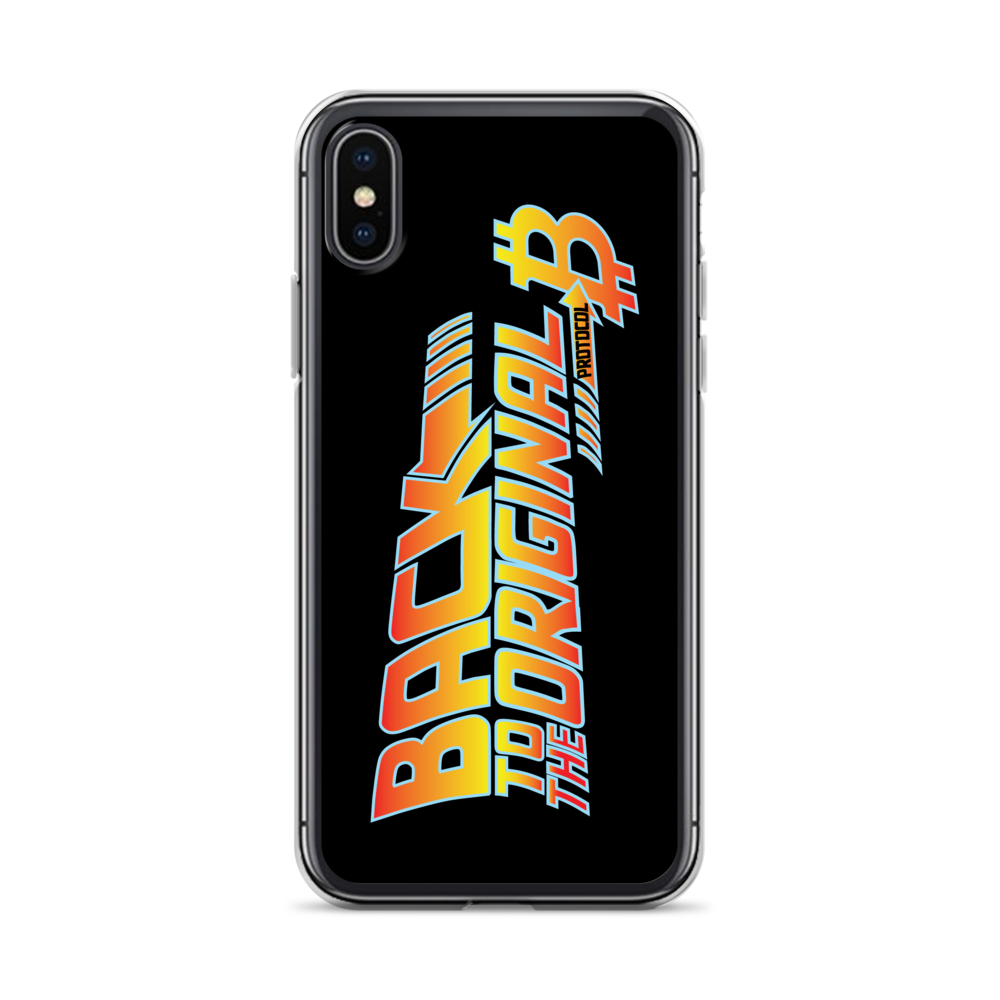 Back To The Original Bitcoin Protocol iPhone Case Black iPhone X/XS  - zeroconfs
